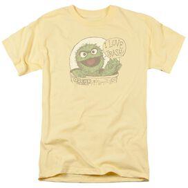 Sesame Street I Love Trash Short Sleeve Adult Banana T-Shirt