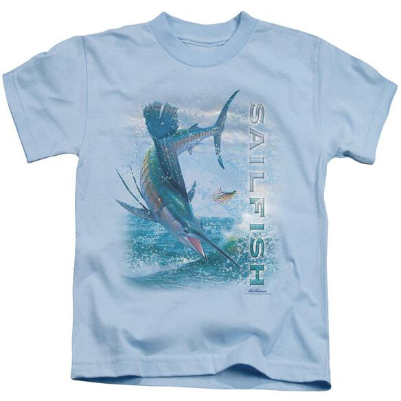 Wildlife Leaping Sailfish Short Sleeve Juvenile Light Blue T-Shirt