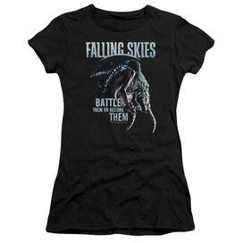 Falling Skies Battle Or Become Short Sleeve Junior Sheer T-Shirt