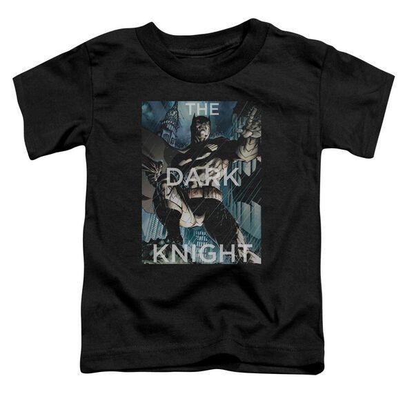 Batman Fighting The Storm Short Sleeve Toddler Tee Black T-Shirt
