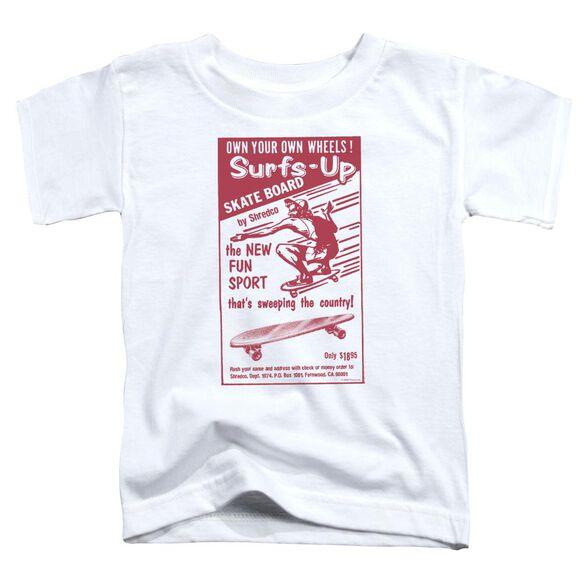 Surfs Up Short Sleeve Toddler Tee White Lg T-Shirt