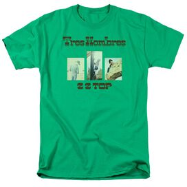 Zz Top Tres Hombres Short Sleeve Adult Kelly T-Shirt