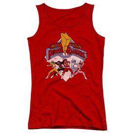 Power Rangers Retro Rangers Juniors Tank Top