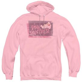 PINK PANTHER DISTRESSED - ADULT PULL-OVER HOODIE - PINK