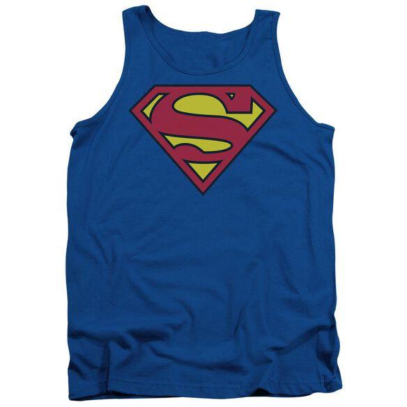 Superman Classic Logo Adult Tank