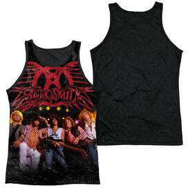 Aerosmith Stage Adult Poly Tank Top Black Back