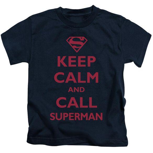 SUPERMAN CALL SUPERMAN - S/S JUVENILE 18/1 - NAVY - T-Shirt