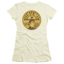 Sun Elvis Full Sun Label Short Sleeve Junior Sheer T-Shirt