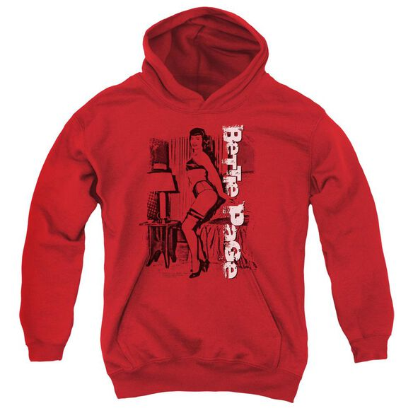Bettie Page Shake It Youth Pull Over Hoodie