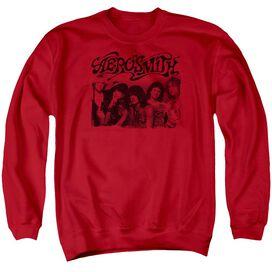 Aerosmith Old Photo Adult Crewneck Sweatshirt