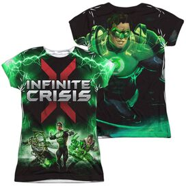 Infinite Crisis Ic Green Lantern (Front Back Print) Short Sleeve Junior Poly Crew T-Shirt