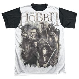 Hobbit Hollen Amarth Short Sleeve Adult Front Black Back T-Shirt