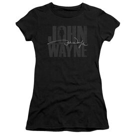 John Wayne Silhouette Sig Short Sleeve Junior Sheer T-Shirt