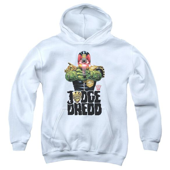 Judge Dredd In My Sights Youth Pull Over Hoodie