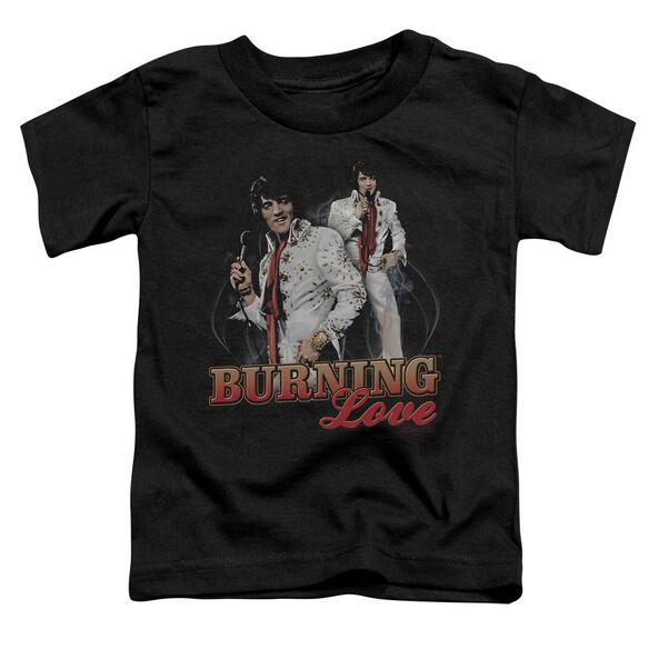 Elvis Burning Love Short Sleeve Toddler Tee Black Md T-Shirt