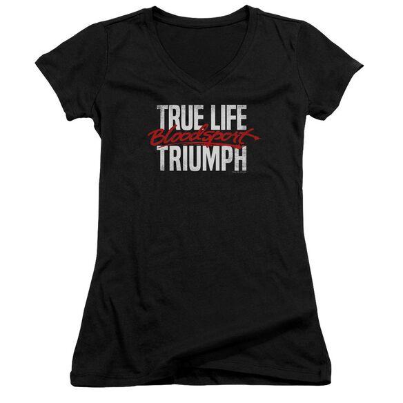 Bloodsport True Story Junior V Neck T-Shirt