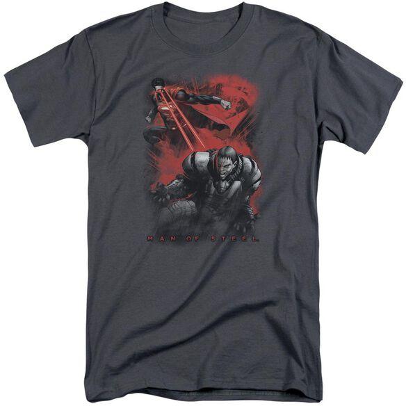 Man Of Steel Fire Fight Short Sleeve Adult Tall T-Shirt