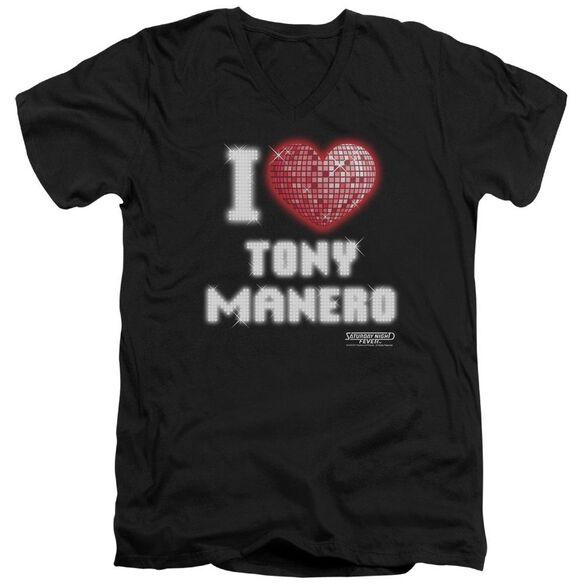 Saturday Night Fever I Heart Tony Short Sleeve Adult V Neck T-Shirt