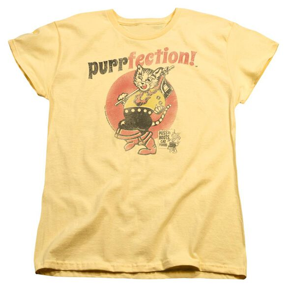 Puss N Boots Purrfection Short Sleeve Womens Tee T-Shirt