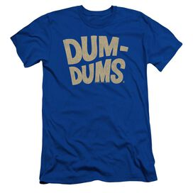 Dum Dums Distressed Logo Short Sleeve Adult Royal T-Shirt