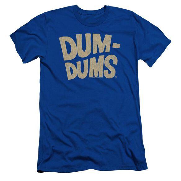 Dum Dums Distressed Logo Short Sleeve Adult Royal T-Shirt