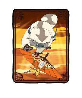 Avatar Aang & Appa Throw Blanket