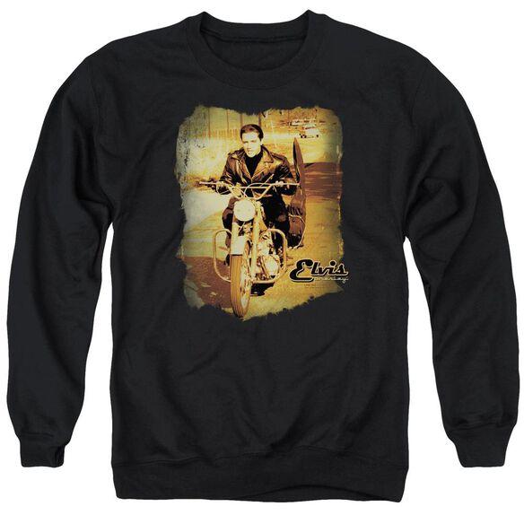 Elvis Hit The Road Adult Crewneck Sweatshirt
