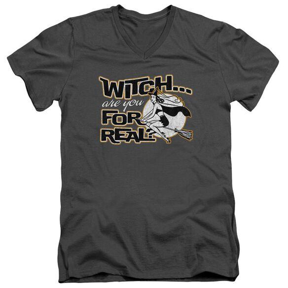 For Real Short Sleeve Adult V Neck T-Shirt