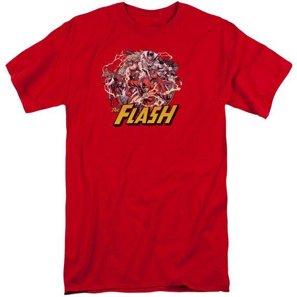 Jla Flash Family Short Sleeve Adult Tall T-Shirt