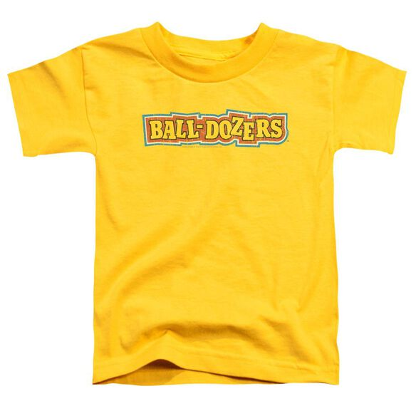 Dubble Bubble Balldozers Short Sleeve Toddler Tee Yellow Lg T-Shirt