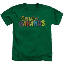 Dubble Bubble Crazy Bananas Short Sleeve Juvenile Kelly Green T-Shirt