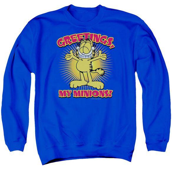 Garfield Minions - Adult Crewneck Sweatshirt - Royal Blue