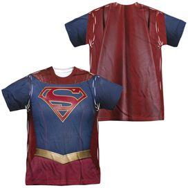 Supergirl Supergirl Uniform (Front Back Print) Short Sleeve Adult Poly Crew T-Shirt