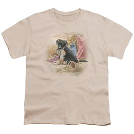 WILDLIFE HANGING OUT - S/S YOUTH 18/1 - CREAM T-Shirt