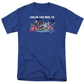 Teen Titans Go Like Pros Yo Short Sleeve Adult Royal T-Shirt