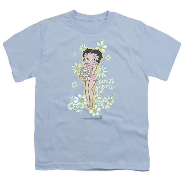 Betty Boop Flowers Short Sleeve Youth Light T-Shirt