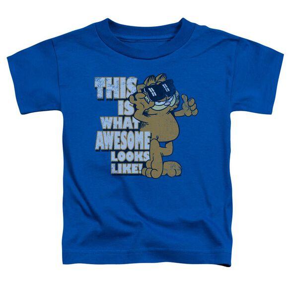 Garfield Awesome Short Sleeve Toddler Tee Royal Blue Lg T-Shirt