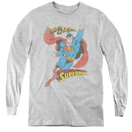 Dc On The Job - Youth Long Sleeve Tee - Athletic Heather