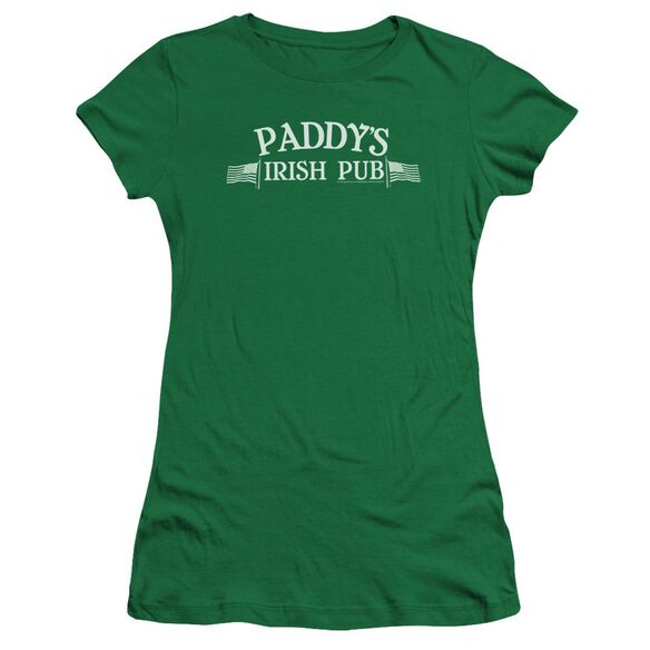 Its Always Sunny In Philadelphia Paddys Logo Premium Bella Junior Sheer Jersey Kelly
