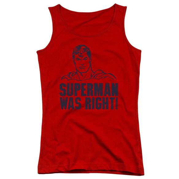 Superman Was Right Juniors Tank Top