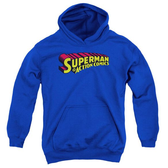 Superman Superman In Youth Pull Over Hoodie Royal