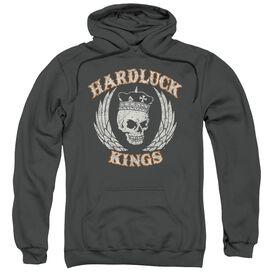 Hardluck Kings Red Cream Distressed Adult Pull Over Hoodie