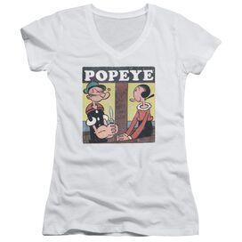 Popeye Loves Olive Junior V Neck T-Shirt