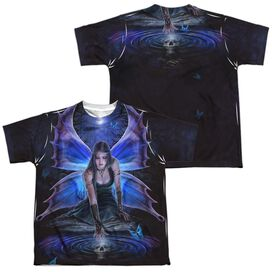 Anne Stokes Immortal Flight (Front Back Print) Short Sleeve Youth Poly Crew T-Shirt