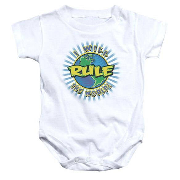 Rule The World Infant Snapsuit White Md