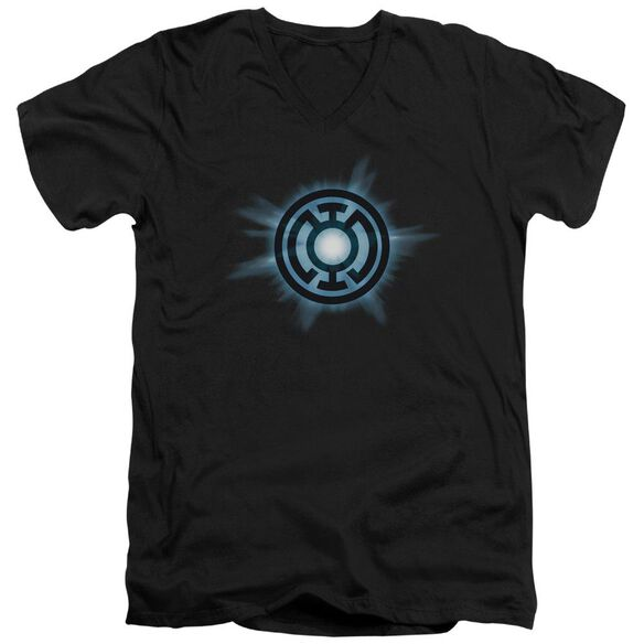 Green Lantern Blue Glow Short Sleeve Adult V Neck T-Shirt