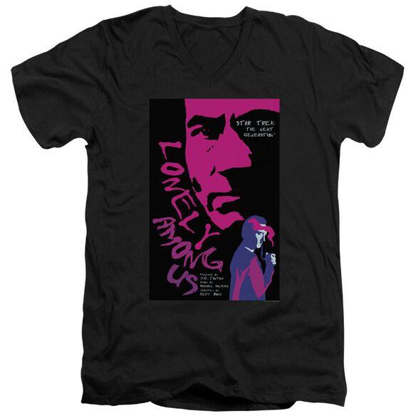 Star Trek Tng Season 1 Episode 7 Short Sleeve Adult V Neck T-Shirt