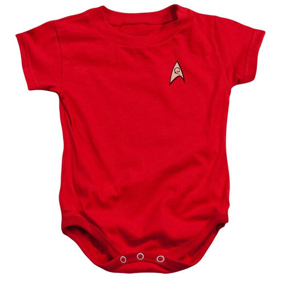 Star Trek Engineering Uniform Infant Snapsuit Red Md