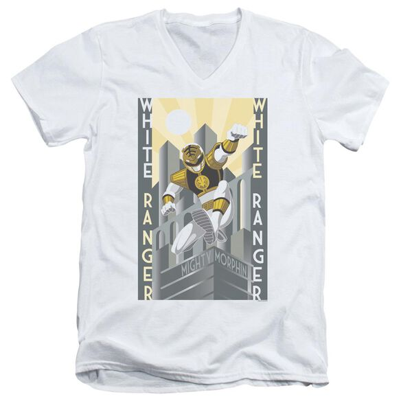 Power Rangers Ranger Duo Short Sleeve Adult V Neck T-Shirt
