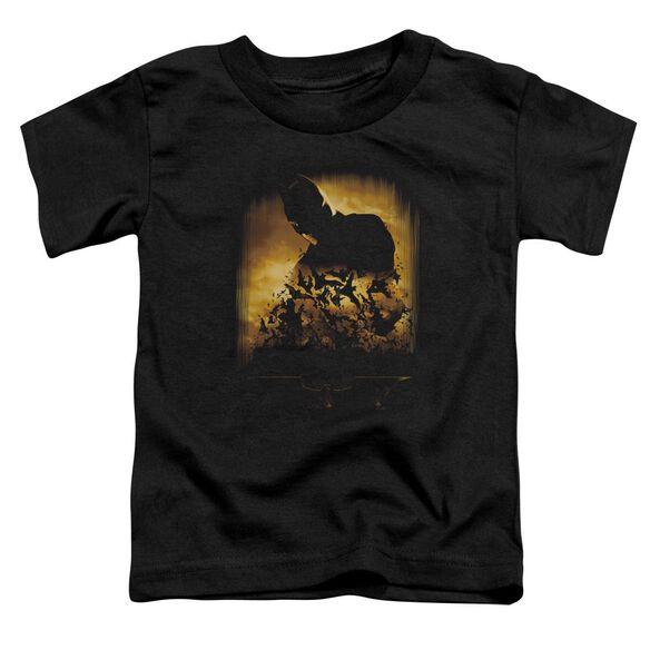 Batman Begins Bats Short Sleeve Toddler Tee Black T-Shirt